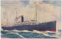 """Vapor Espanol """" Manuel Calvo """" Transatlantica Shipping Spanish Ship - Sin Clasificación"""