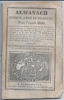 1846 Calendrier Almanach Curieux Utile Et Récréatif Imp Pierre Polere Carcassonne  Foires Aude Du 09 -31-34- 81 & 66 - Calendriers