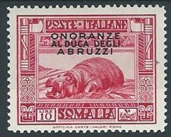 1934 SOMALIA DUCA DEGLI ABRUZZI 10 LIRE MH * - G126 - Somalia