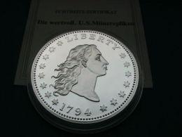 DOLLAR VAN 1794 Replica  Zilver Plated - Émissions Fédérales