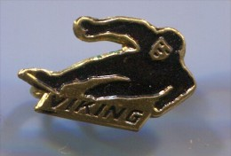 FIGURE SKATING - VIKING, Vintage Pin, Badge - Skating (Figure)