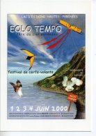 REF 207 CPM Freecard Type Cart'com Lac D'Estaing Eolo Tempo Cerf Volant Chouette Hibou AUCUN 65400 - Publicité