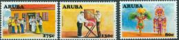 ARUBA 2008 392-393-395, Culture Folklore Carnival Carnaval  MNH ** - Antilles