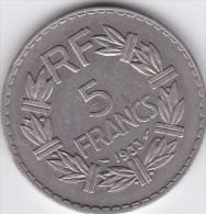 5  Francs Lavrillier Nickel - France