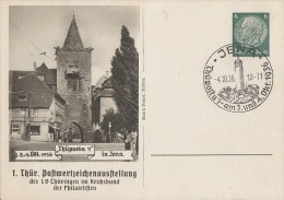 DR Privat-Ganzsache Minr. PP127 C22/02 SST Jena 4.10.36 - Deutschland