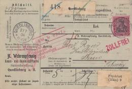 DR Paketkarte EF Minr.77 Quedlinburg 2.7.04 Gel. In Schweiz - Deutschland