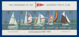 GUERNSEY/GUERNESEY 1991 YACHT CLUB SAILING M.S. U.M.   YT BLOC 13 N.S.C. - Guernesey