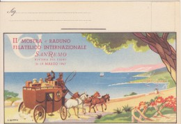 II Mostra E Raduno Filatelico -San Remo 1947 - Esposizioni