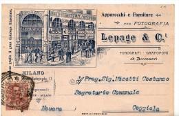 CARTOLINA PUBBLICITARIA - FOTOGRAFIA - LEPAGE & C-FORMATO PICCOLO - VIAGGIATA NEL 1902 CON AFFRANCATURA ANTERIORE - - Milano (Milan)