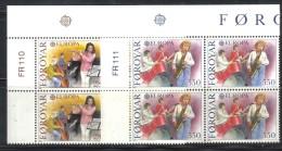 FAEROER 1985 - La Serie  N. 110/111 QUARTINA ***  MNH - Isole Faroer