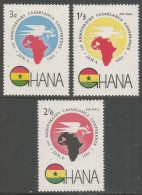 Ghana. 1962 First Anniv. Casablanca Conference. MH Complete Set. SG 277-279 - Ghana (1957-...)