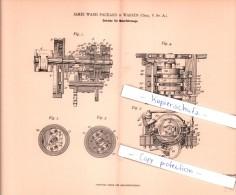 Original Patent   - J. Ward Packard In Warren , Ohio , V. St. A. , 1901 , Getriebe Für Motorfahrzeuge !!! - KFZ