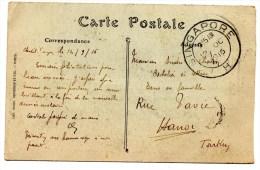 CP De Chatel Guyon_Thermes_(08.1916) Pour Hanoi Tonkin Via Singapore H - 1906-38 Semeuse Camée