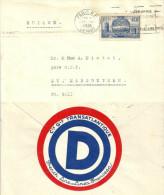 "Motiv Brief  ""OD Cie Gle Transatlantique French Line = Linea Francesa""                1938 - France"