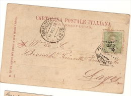 Portugal & Bilhete Postal, Roma, Lagos 1906 (108) - 1892-1898 : D.Carlos I