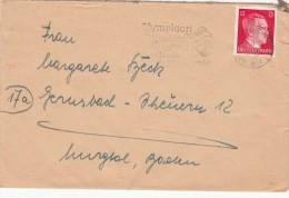 1944 LETTRE ALLEMAGNE. DEUTSCHES REICH. GARMISCH-PARTENKIRCHEN/ 5642 - Hiver