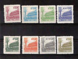 CHINE 1954/ Série Complète Neuve Sans Gomme N° 1008/1015  Cote 2006 =  4  Euros - Oblitérés