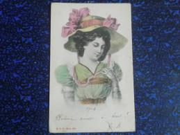 Femme Au Chapeau Enrubané - Femmes