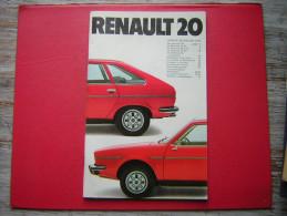 BROCHURE / LIVRET  RENAULT 20   ANNEE MODELES 1979   30 PAGES