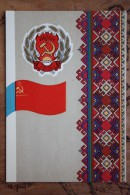 RUSSIA . Mari El - Old USSR Postcard Autonomous Republic Emblem (Coat Of Arms And Republic Flag Of The Rep - 1972 - Cartes Postales