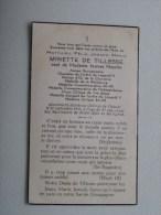 DP Minette De TILLESSE ( Jeanne M ) Château De Tillesse 21 Sept 1955 à L'age De 82 Ans ( Zie Foto´s Voor Details ) ! - Religione & Esoterismo