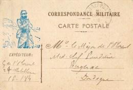 CPA Illustrée En Franchise Militaire - 1916 - Adressée Du 27 ème D'Artillerie à Blagnac En Dordogne - Voir 2 Scans - War 1914-18