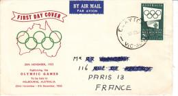 Jeux Olympiques Melbourne 1956, Fdc Australie