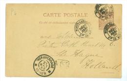 MONACO *  BRIEFOMSLAG Uit 1896 Van MONTECARLO Naar DEN HAAG  (7880) - Zonder Classificatie