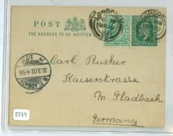 BRIEFKAART Uit 1902 Van LONDON ENGLAND Naar MUNCHEN GLADBACH DEUTSCHLAND (5544) - 1902-1951 (Koningen)