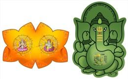 nig14325ab Niger 2014 Elephant Hindu Symbols 2 s/s