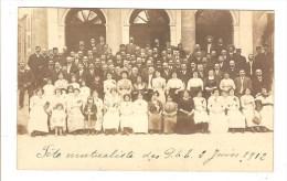 CARTE PHOTO A SITUER - THEME POSTE - FETE MUTUALISTE DES PTT - 2 JUIN 1912 - Postales