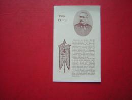 IMAGE PIEUSE / RELIGIEUSE PETIT TEXTE  DOUBLE   1929  MILES CHRISTI  UNE PRIERE DU GENERAL DE SONIS - Santini