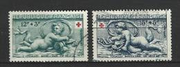 """FR YT 937 & 938 """" Au Profit De La Croix-Rouge """" 1952 Oblitéré - Usati"""