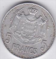 5  Francs L.Maubert -Aluminium- 1945-LOUIS II Prince De Monaco - Monaco