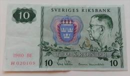 SVEZIA 10 KRONOR 1980 - Suède