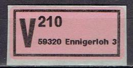 Germany - V-Zettel 59320 Ennigerloh 3 (K839) - R- & V- Vignetten