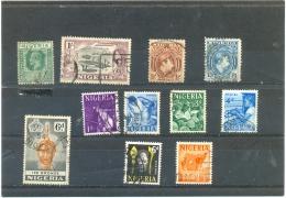 NIGERIA Y & T N° Y & T N° 1 54 60 82 90 98 100 101 102 103 105  ( O ) 11 Différents - Nigeria (...-1960)