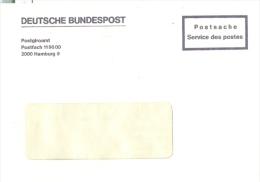 BRD Hamburg Postsache Deutsche Bundespost Postgiroamt RS: Datapost Der Internationale Postkurierdienst - BRD