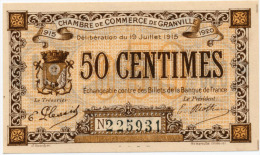 1914-1918 // C.D.C.//  Granville // Cinquante Centimes - Chambre De Commerce