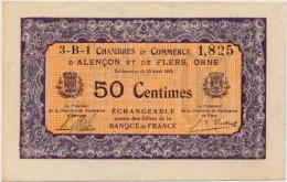 1914-1918 // C.D.C.//  Alençon & Flers // Cinquante Centimes - Cámara De Comercio