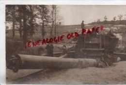 80 - CHUIGNES - GUERRE 1914-1918- CANON DE 380 MM CAPTURE PAR LES AUSTRALIENS -AUSTRALIE- RARE CARTE PHOTO CARON AMIENS - France