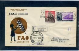 FDC VENETIA 1955 F.A.O. - 6. 1946-.. Repubblica