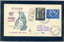FDC VENETIA 1955 BEATO ANGELICO - 6. 1946-.. Repubblica