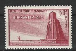 "YT 925 "" Victoire De Bir-Hakeim "" 1952 Neuf*"
