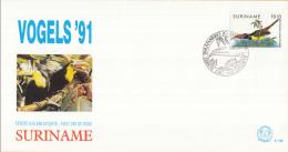 Republiek Suriname - FDC145 - Fauna - Vogels - Groene Toekan - Z 685 - Climbing Birds