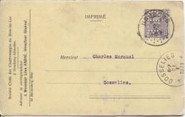 TP 139 Perfor� s/CP c.Houdeng en 1921 v.Gosselies c.d�arriv�e Charbonnages Bois-du-LucPR1522
