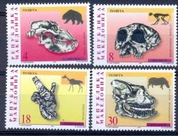 MK 1998-137-40 FOSSILE, MACEDONIA, 1 X 4v, MNH - Archäologie