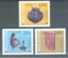 MK 1999-342-4 ARCHEOLOGY EXPONATE, MOLDAVIA 1 X 3v, MNH - Archäologie