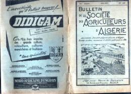 Bulletin De La Société Des Agriculteurs D'Algerie-1956-1957 - Garden