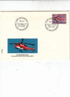 SVIZZERA  1973 - Yvert  907 -FDC -    -- Annullo Speciale Illustrato -Aerophilatelie - Elicotteri